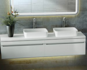 Edge stone bathroom basin