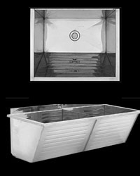 Fabricated wash troughs