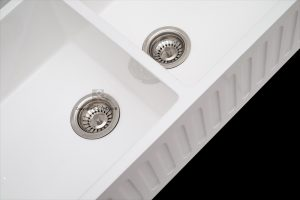 90mm Basket strainer wastes standard in double butlers