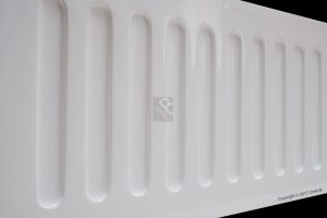 Deep edge fluted front of double butler