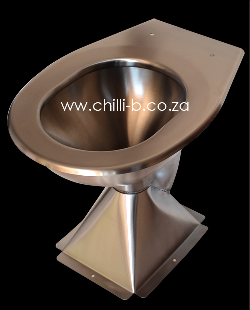 Pedestal Stainless Steel Toilet Pan Franke Model Hcl
