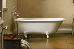 Hampshire classic victorian small free standing white bath