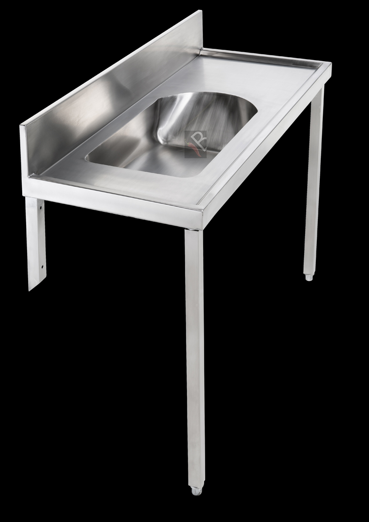 Hospital Stainless Steel Baby Bath Table Or Wall Mounted