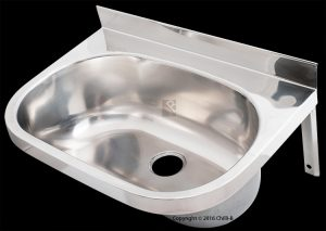 Oval KB stainless steel wall mounted hand wash basin