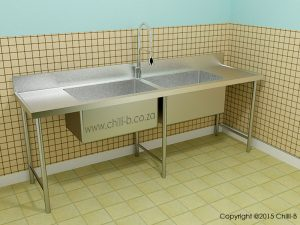 P2 2400 Center pot sink