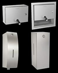 Stainless steel commercial soap dispensers