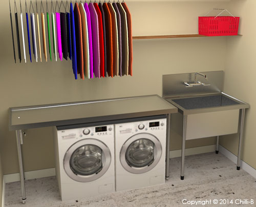 Sucllery-sink-with-table-laundry