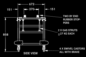 TLT tilting trolley diagram side view