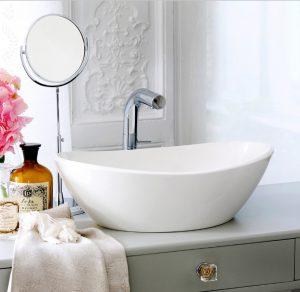 Amalfi 55 free standing stone bathroom basin