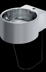 KFC BRC390CF stainless steel wall mounted hand wash basin