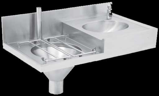 Chbc Slop Hopper Basin Combination Sink
