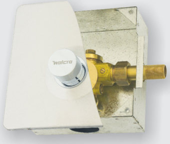 Walcro concealed urinal flush valve for single wall mounted urinals