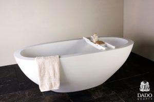 dado baths Moloko quartz free standing stone bath SBM/008