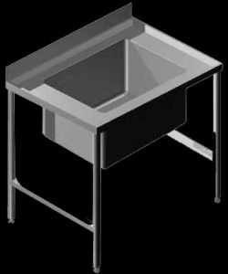 P1 stainless steel pot sink