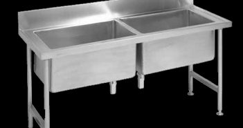 Double bowl pot sink made from stainless steel