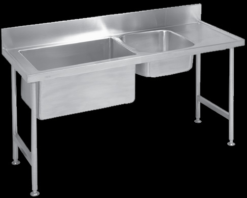 S1p1 Stainless Steel Double Bowl Preparation Catering Sink