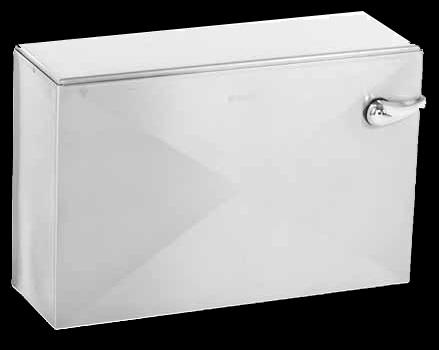 Stainless steel vandal resistant toilet cistern
