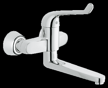 Medical elbow action wall mounted hospital mixer