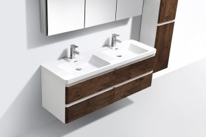 rose wood bathroom vanity