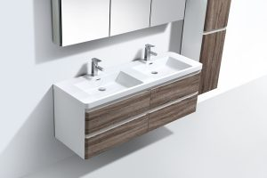 two colour bathroom cabinet