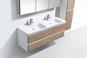 mixed colour bathroom vanity