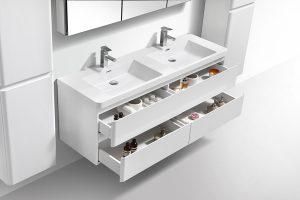 large 1500mm double basin bowl bathroom vanity