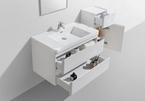Milan 900 wall hung bathroom vanity basin and drawers