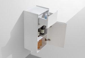 Milan small wall hung bathroom side cabinet
