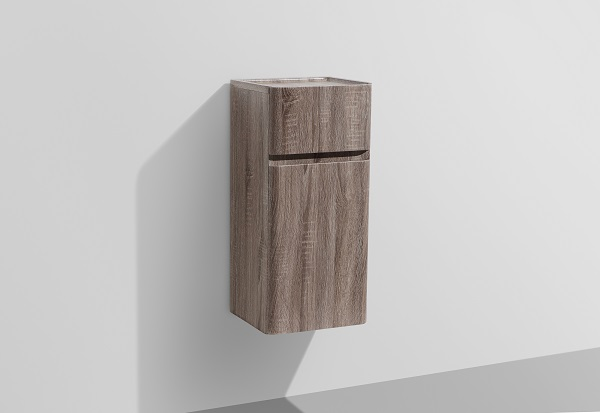 Milan Small Wall Hung Bathroom Side Cabinet