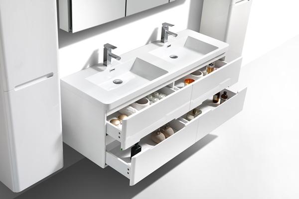 Venice Modern Gloss White Bathroom Vanity