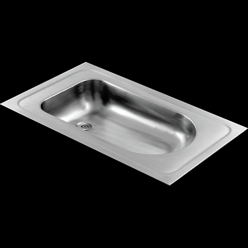 Stainless steel inset baby bath for hospitals and clinics