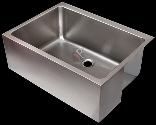 Single butler made from grade 304 (18/10) stainless steel. 90mm Basket strainer waste is included and can be connected to standard waste pipes. Tap to be mounted either in the wall or behind the sink.