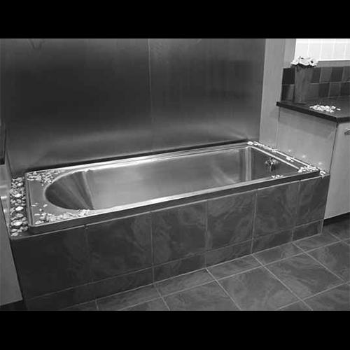 Stainless steel bath for hospital burn units