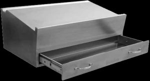 Stainless steel writing desk for mortuaries and hospitals
