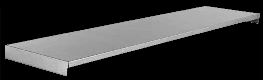 Stainless steel solid under shelf for catering sinks and tables