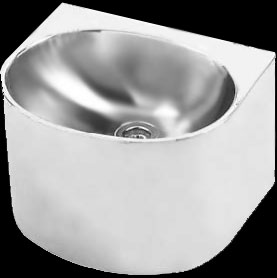 Stainless steel hand wash basin for prisons