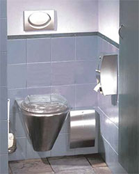 Stainless steel washroom products