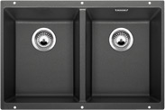 BL00518591 Blanco black granite double undermount kitchen sink