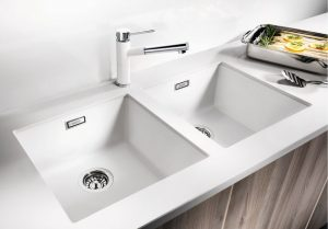Blanco Subline 400 double undermount kitchen sink lifestyle