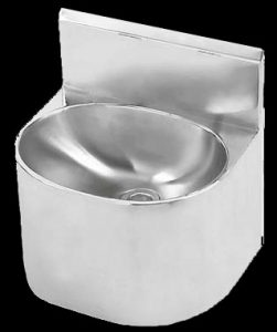 Franke HDSSB heavy duty surround wash hand basin with splashback for prisons 2520009 325318