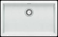 Large white single bowl undermount granite kitchen sink