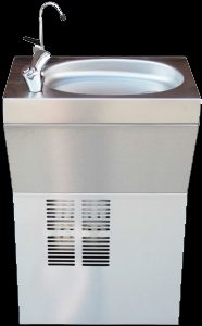 Wall mounted water chiller drinking fountain