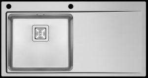 Modern single left hand bowl kitchen sink