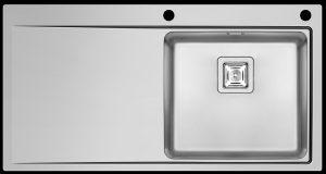 Modern single right hand bowl kitchen sink