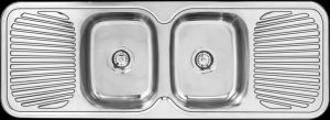 SDI-1380-DE drop in double drainer kitchen sink