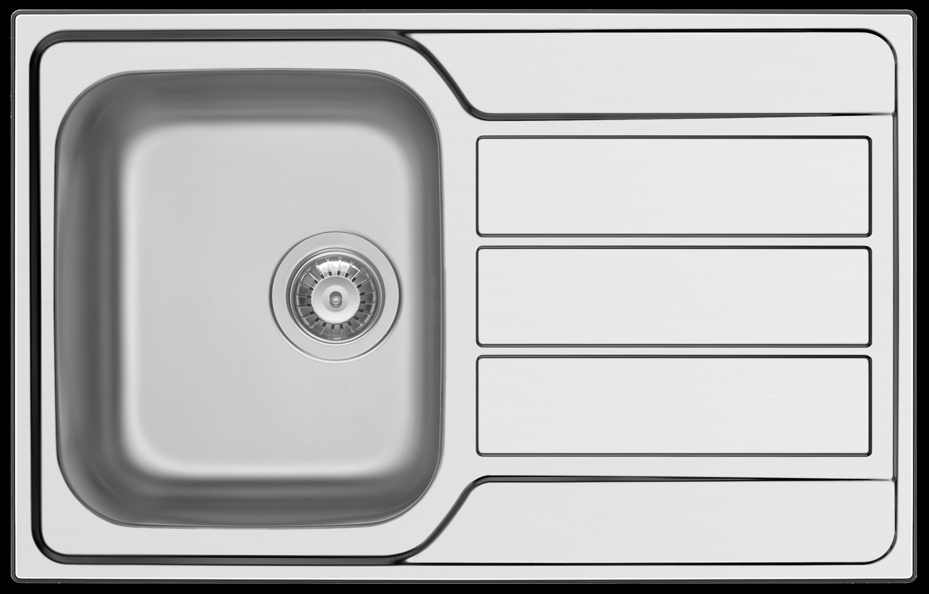 Modern small kitchen sink 790 mm left or right hand bowls