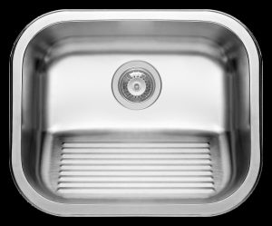 Single inset laundry or scullery sink