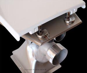Vandal resistant stainless steel toilet seat hinges