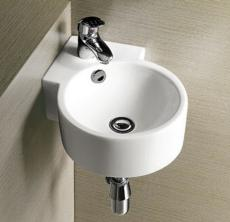 Corner bathroom basin