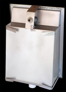 Recessed drinking fountain with tap back end OSB 1A/125